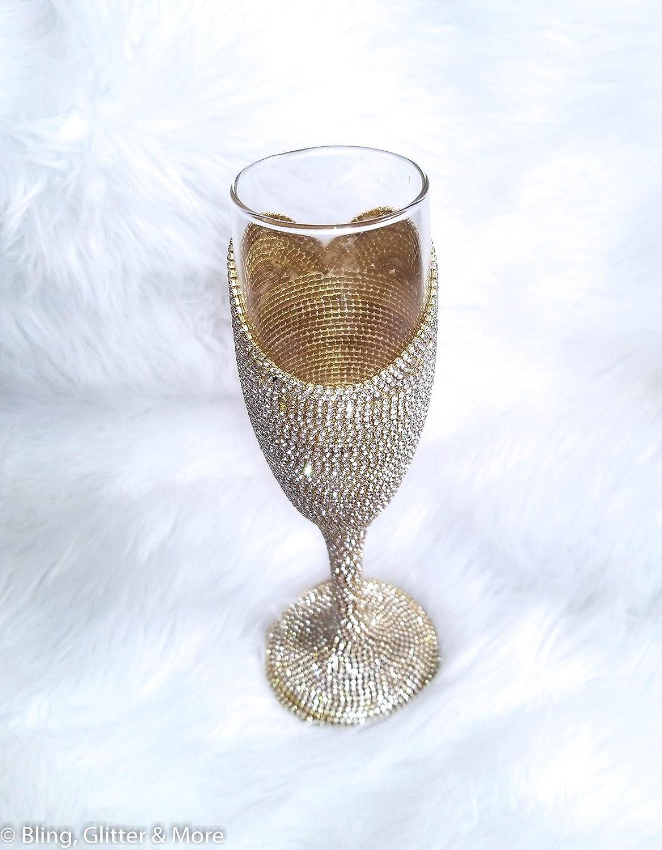 30th Birthday Glass Bride Glass 50th Birthday Glass Rhinestone Champagne Flute -Wedding Toast Glasses Engagement Present Bridal Shower Gift Future Bride Gifts