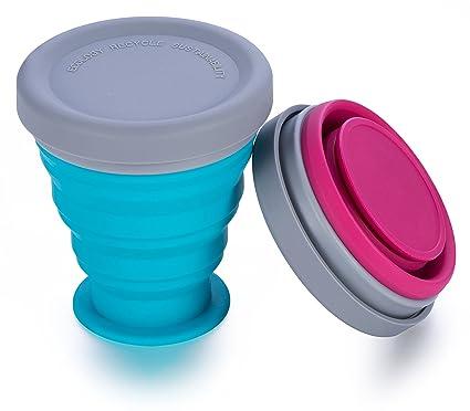 Amazon.com: BlueBeach – Juego de 2 tazas plegables para ...