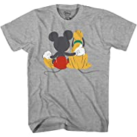 Disney Mickey Mouse & Pluto Back Disneyland World Tee Funny Humor Adult Mens Graphic T-Shirt Apparel