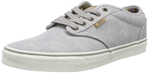 Vans Atwood Deluxe Mens LowTop Trainers Washed TwillGrayMarshmallow