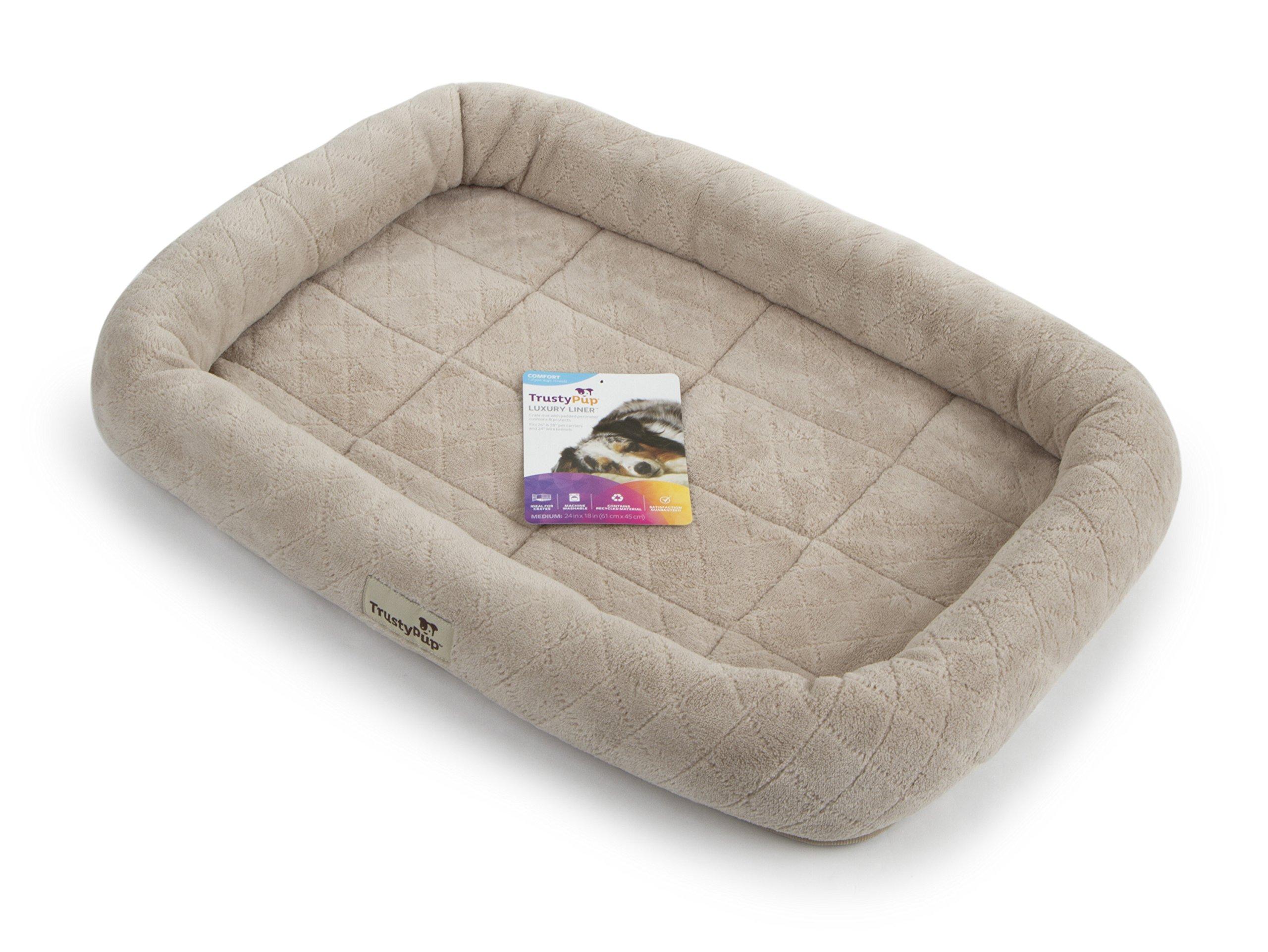 TrustyPup 65079-99975-004 Luxury Liner Bolstered Crate Mat, Medium
