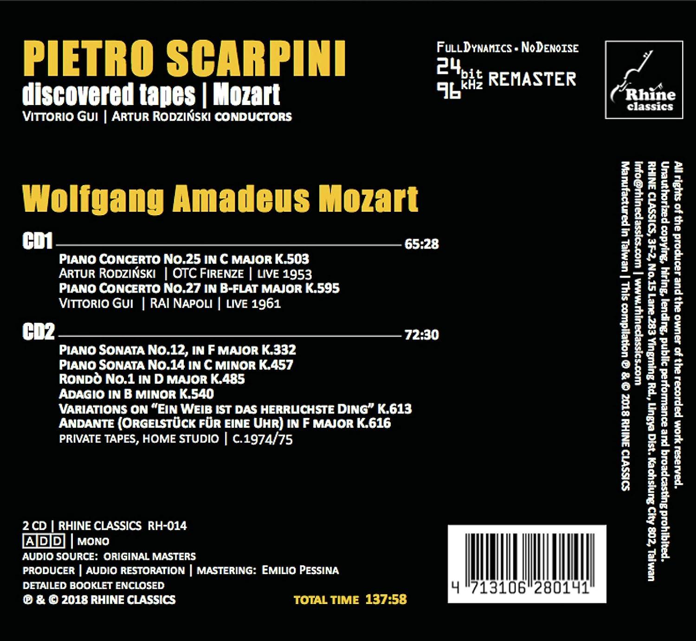 Discovered Tapes - Mozart: Pietro Scarpini, Wolfgang Amadeus Mozart: Amazon.es: Música