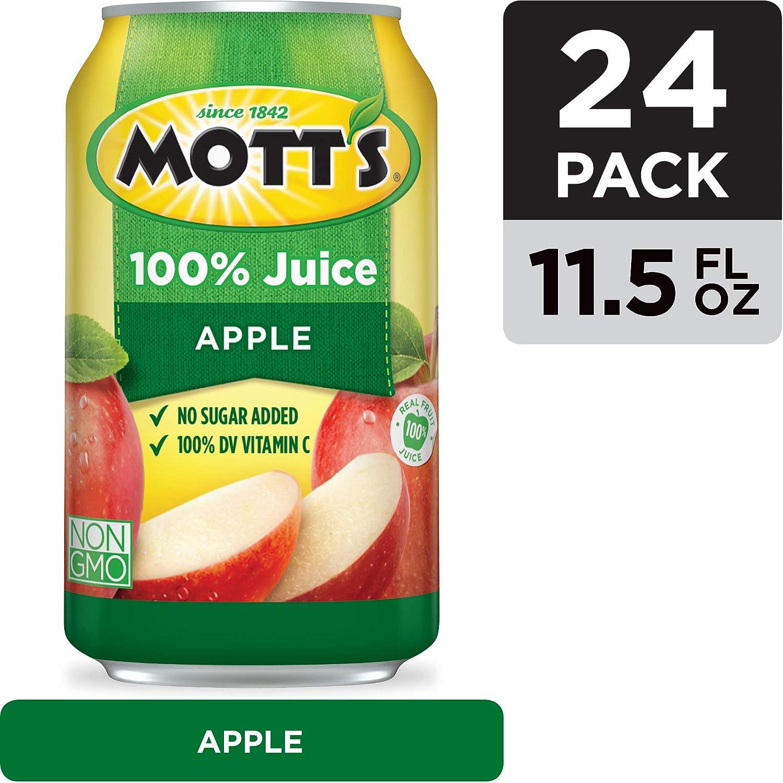 Mott's 100% Original Apple Juice, 11.5 Fluid Ounce Cans, 24 Count