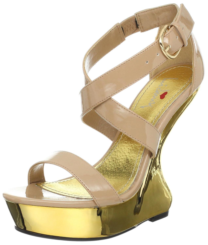 Luichiny Women's Gear Up Wedge Sandal B009RH9AOY 8 B(M) US|Blush