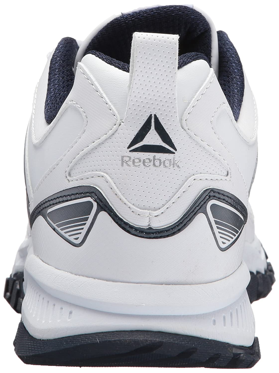 4db8672c4b8 Reebok Ridgerider Leather Sneaker White Coll. Navy 9 D(M) US  Amazon.in   Shoes   Handbags