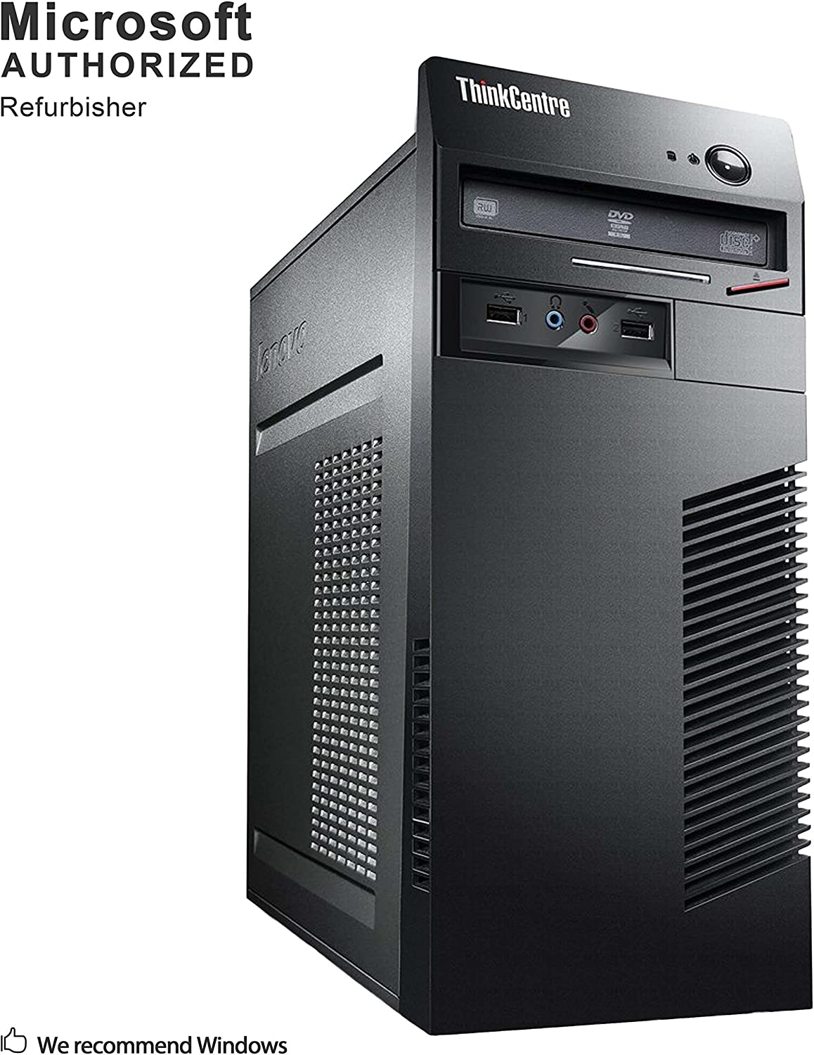 Lenovo ThinkCentre M72e Tower Desktop PC, Intel Quad Core i7 3770 up to 3.8GHz, 8G DDR3, 120G SSD + 1T HDD, WiFi, BT 4.0, DVD, Windows 10 64-Multi-Language Support English/Spanish/French(Renewed)