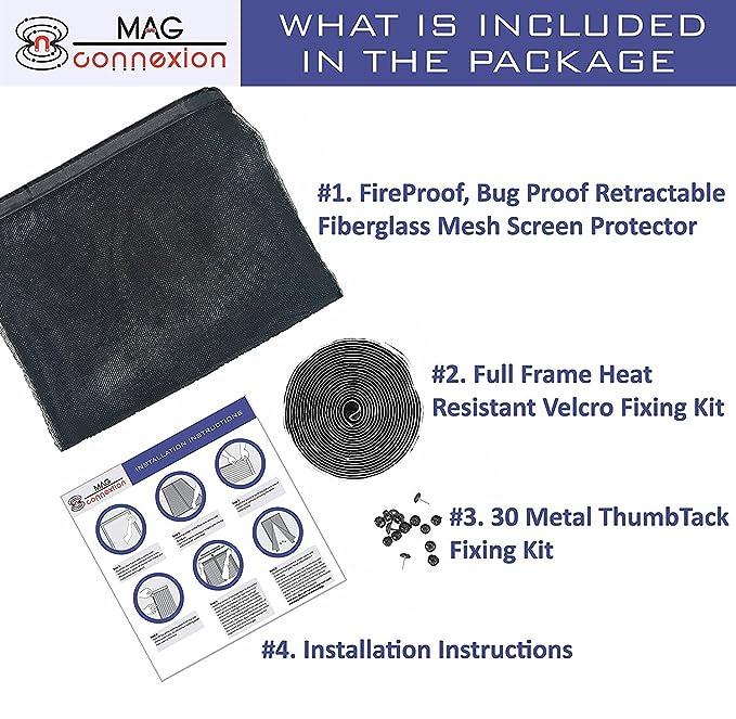 Advanced Fiberglass Magnetic Screen Door | Fit Doors up to 36 x 82 ...