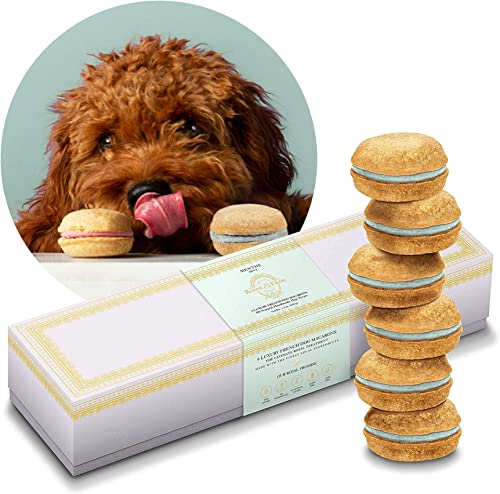 Bonne et Filou Dog Macarons Luxury Dog Treats Handmade in The USA Healthy and Delicious Gourmet Dog Snack with All-Natural Ingredients for Dogs