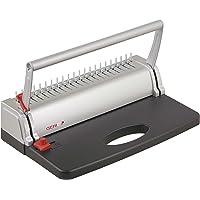 Genie CB 800 Spiralbindegerät (bis 145 Blatt, DIN A4, Inkl. Plastikbinderücken-Set) silber/schwarz