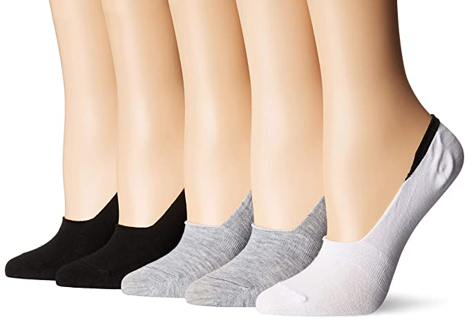 5966c926586 Steve Madden Legwear Women's 5 Pack Back Cuff Color with Gripper ...