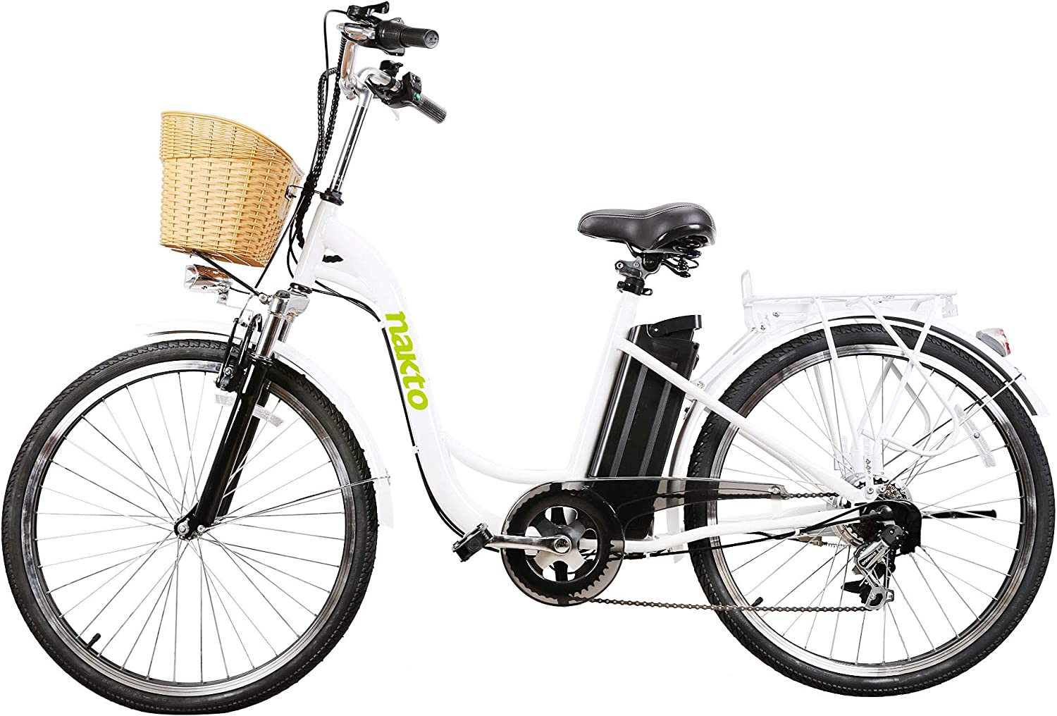 best electric bikes for seniors - NAKTO 26″ 250W Step-Thru Adult Electric Bicycle