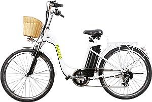 Nakto/Spark 26-Inch Women's Electric Bike High-Speed BrushlessMotor, V Brake