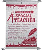 Natali Gift for Teacher - Special Teacher Scroll Card
