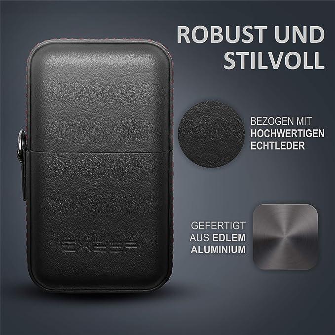 VONETTI Alpha Shield-V2 9cm safe metal tin RFID signal blocking faraday pouch Premium Keyless Car Key Signal Blocker Box- Aluminium Faraday Bag for Car Keys
