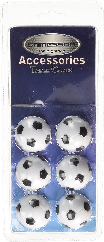 Gamesson Pelotas de futbolín, Unisex, Football Table, Blanco/Negro ...