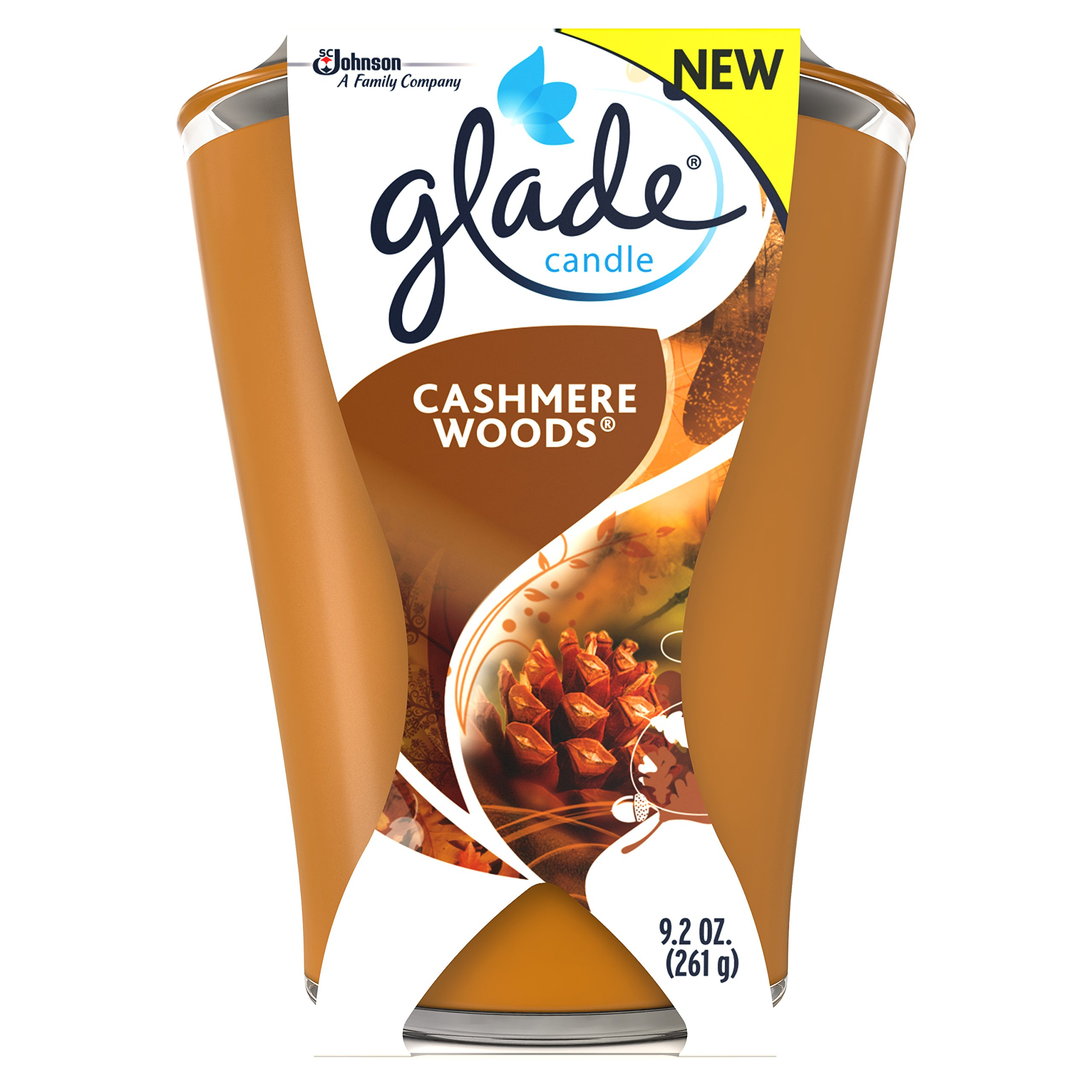 Glade Large Jar Candle, Cashmere Woods, 9.2 Ounce