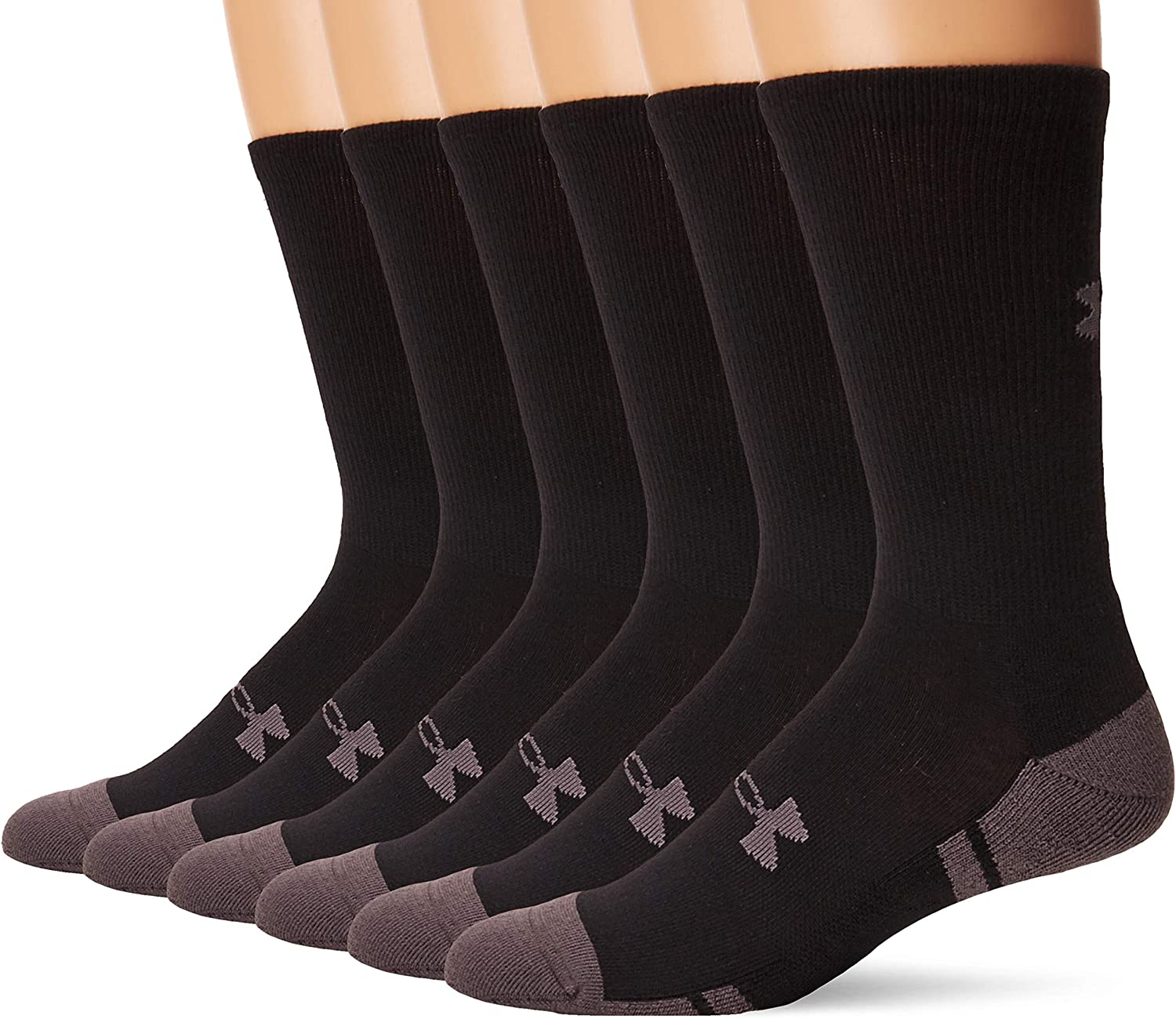 Under Armour Adult Resistor 3.0 Crew Socks, 6-Pairs: Sports & Outdoors