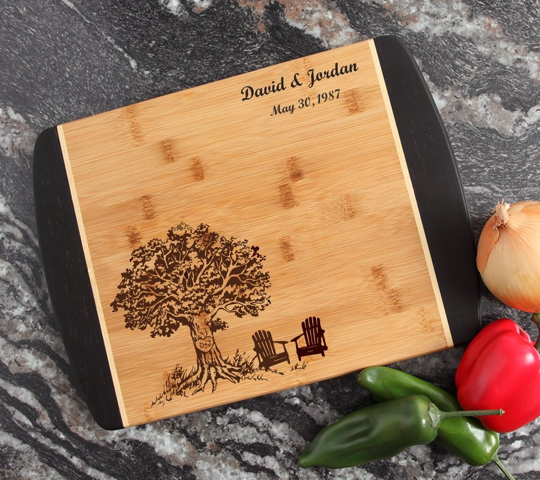 under 10 dollar Cutting Board Engraved Name Thank You Gift Hostess Host Shower Personalized Small Kitchen Bar Bamboo House warming New home