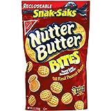 Nutter Butter Bites Peanut Butter Sandwich Cookies - Snack-Sak, 8 Ounce (Pack of 12)