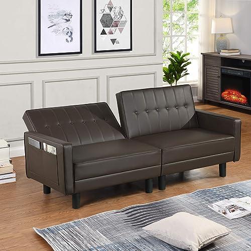 URRED Futon Sofa Bed Loveseat Sofa Sleeper