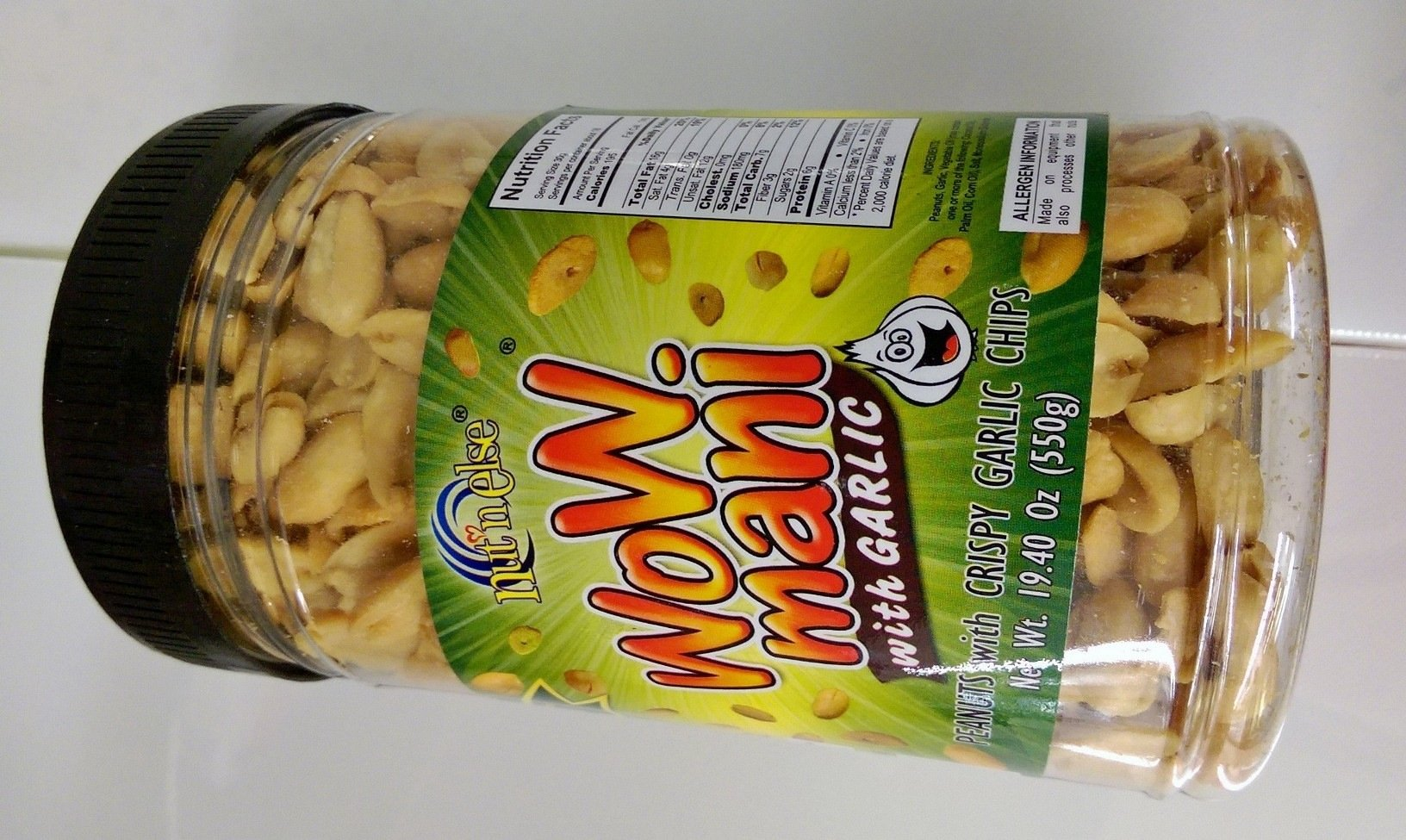 Wow Mani with Garlic Peanuts Pack of Two 19.40 Oz a Pack