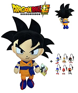 PBP Dragon Ball Super - Peluche Goku, Pelo Negro 30cm Calidad Super Soft + 1