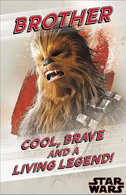 Amazon Brother Star Wars The Last Jedi Birthday Card Brave And