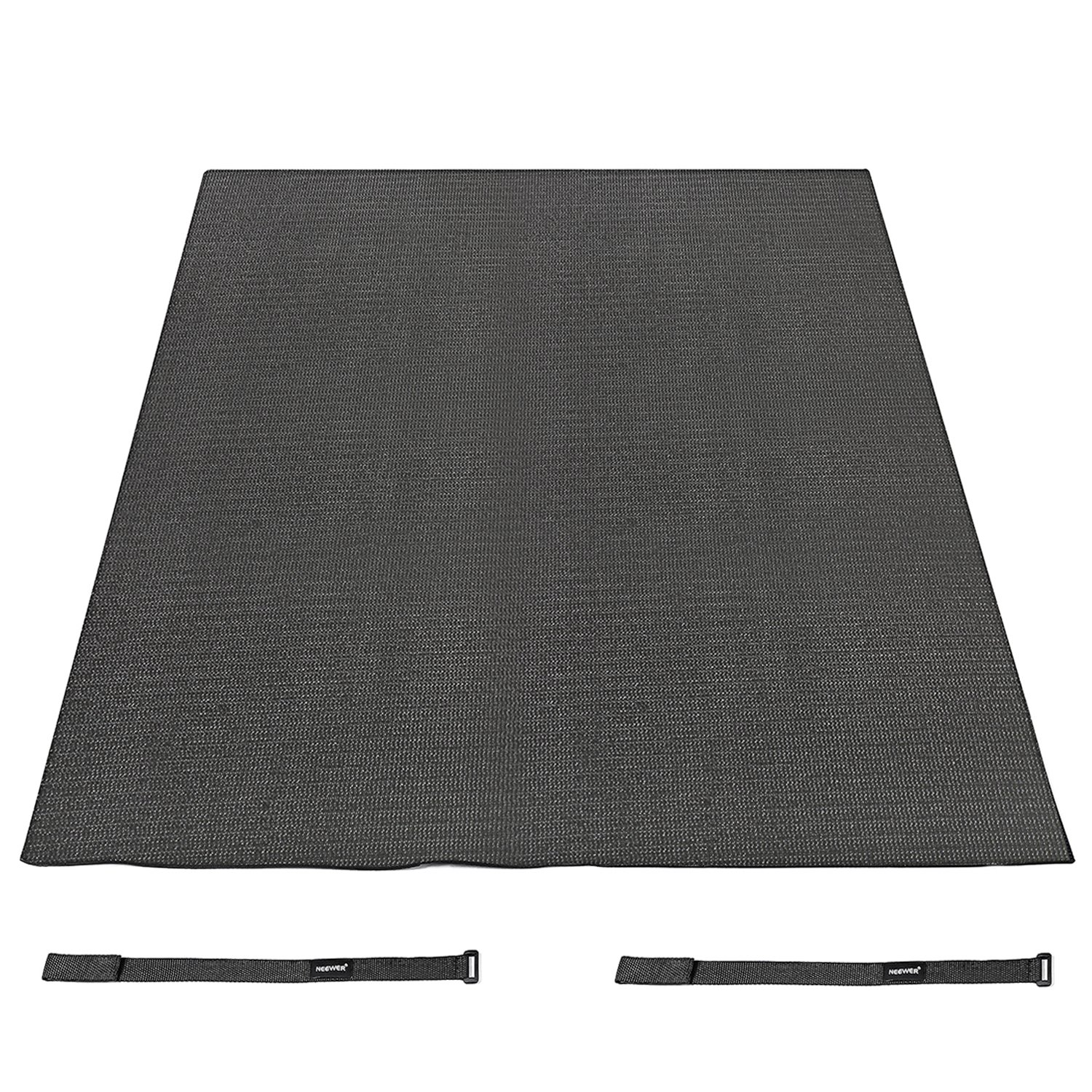 Neewer Black 6 x 4 Feet/1.8 x 1.2M Non Slip Drum Mat with Nylon Carrying Bag for Bass Drum, Snare and Other Core Set Components 40088326