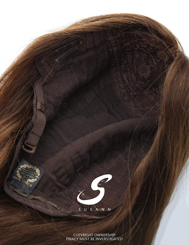 Peluca judía Sheitel de cabello humano europeo para mujer, color ...