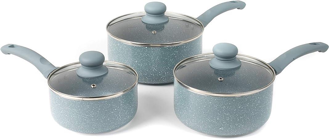 20 cm Non Stick Casserole Casserole Cuisson Pan Pot /& Couvercle Induction base aluminium