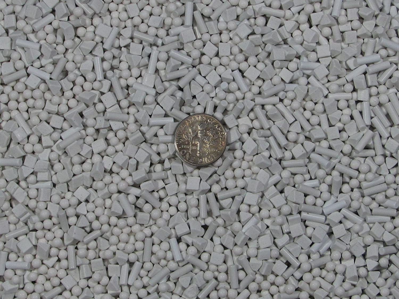 10 Lb 3mm Spheres 4 mm X 4 mm Triangles 2.5 X 8 mm Pins Abrasive Fast Cutting Ceramic Porcelain Tumbling Tumbler Tumble Media