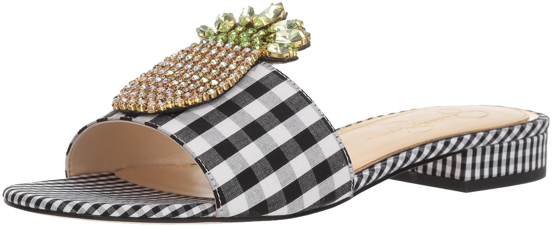 Jessica Simpson Women's Crizma Slide Sandal B078HZN25Y 11 B(M) US|Black/White