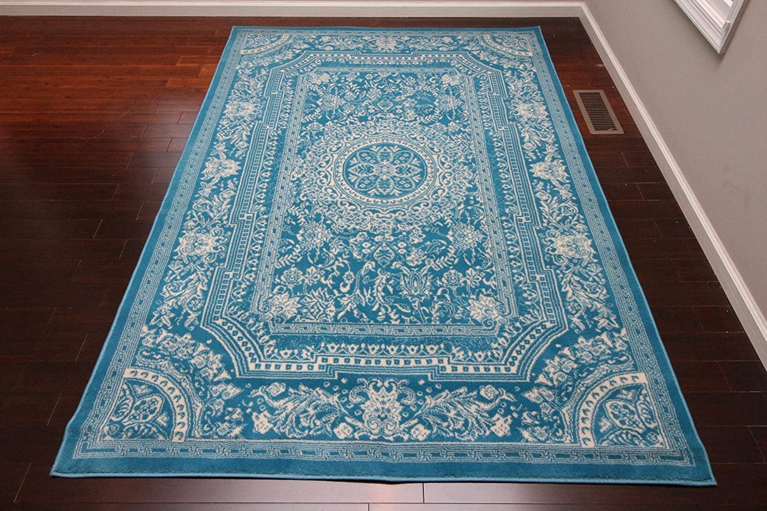 Feraghan New City Traditional French Floral Wool Persian Area Rug 13 X 16 Light Blue Furniture Decor Amazon Com