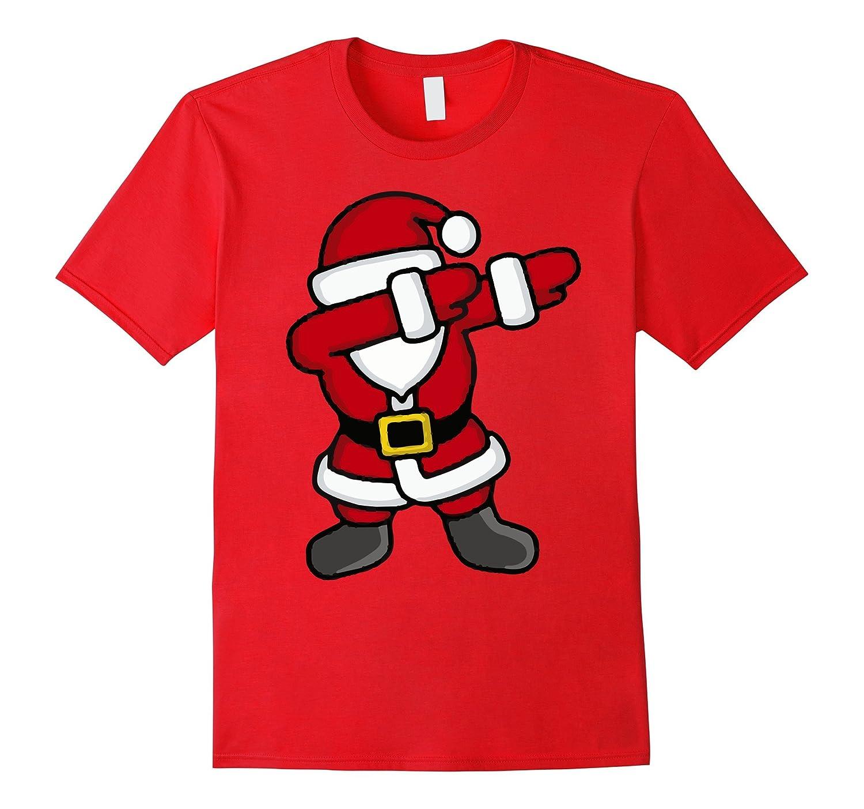 Dabbing Santa T-Shirt - Funny Santa Claus Gift For Christmas-ANZ