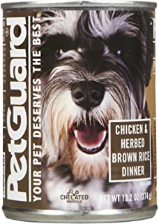 product image for PetGuard Canned Dog Food Chicken and Herbed Brown Rice - 14 oz