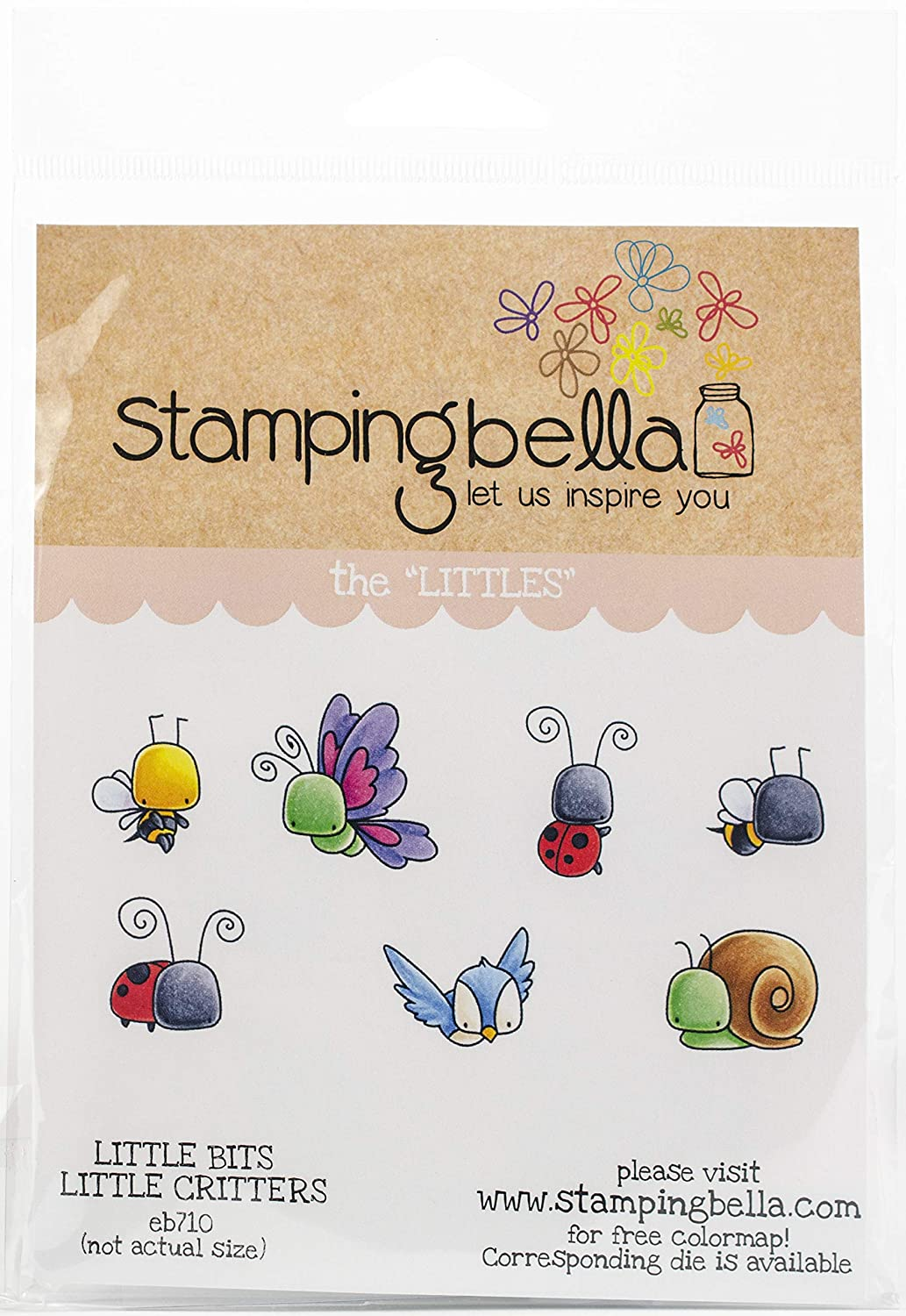 Little Bits Fairy Stamping Bella EB710 Cling Stamps