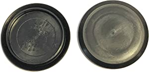 2 2 inch Flush Mount Black Plastic Body and Sheet Metal Hole Plug Qty 10 by Caplugs