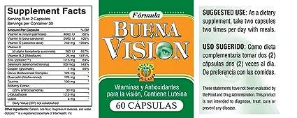 Amazon.com: Capsulas Naturales Buena Vision, tratamiento para la ...