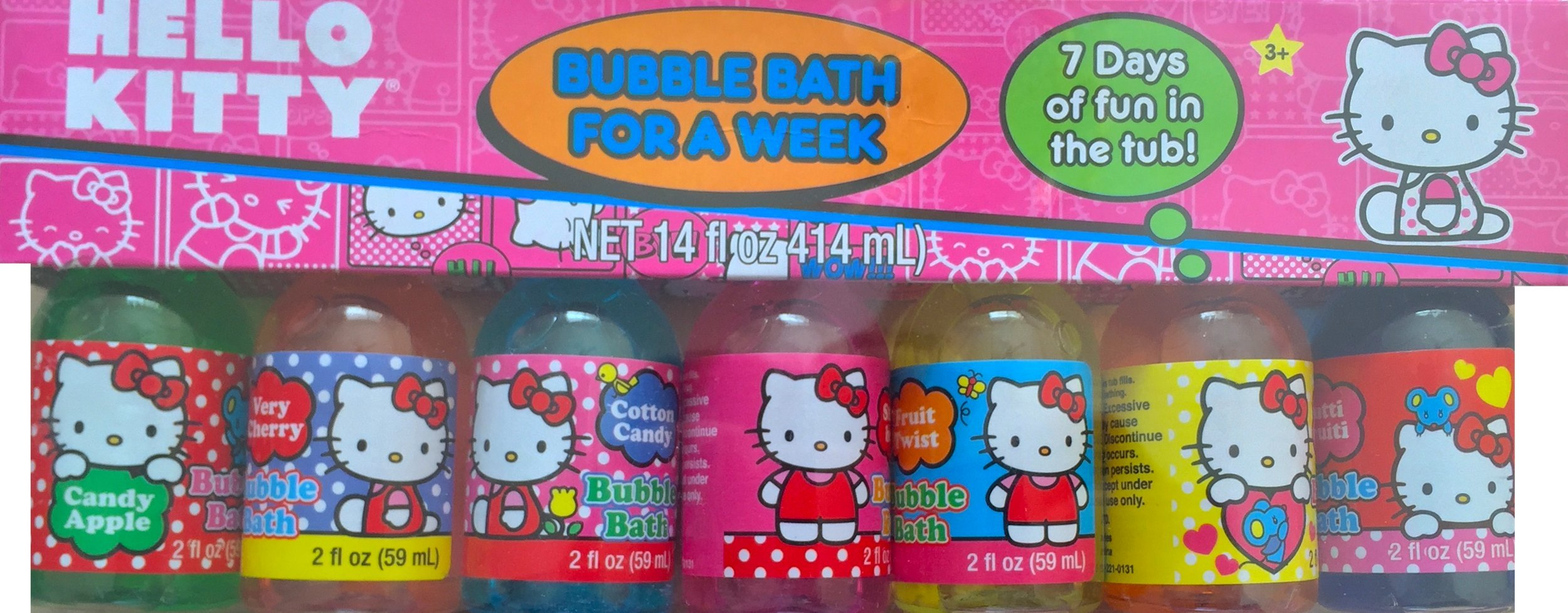 Children's 7 Days Scented Bubble Baths Disney Princesses or Hello Kitty (hello kitty) by Bubble Bath