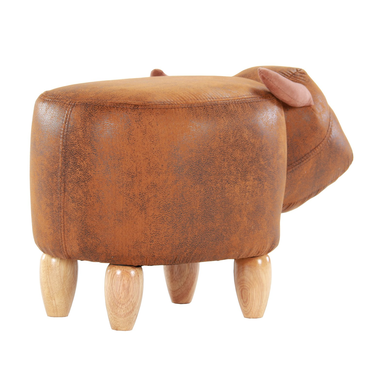 Artechworks Upholstered Ride-On Animal Ottoman Footrest Stool with Vivid Adorable Animal-Like Features,Perfect for Gift, Changing Shoes, Decoration, Toys, Without Storage(Brown Buffalo) by Artechworks (Image #5)