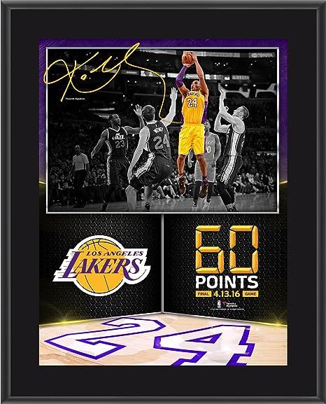 "4dde14d1026 Kobe Bryant Los Angeles Lakers 10.5"" x 13"" 60 Point Finale  Sublimated Plaque -"