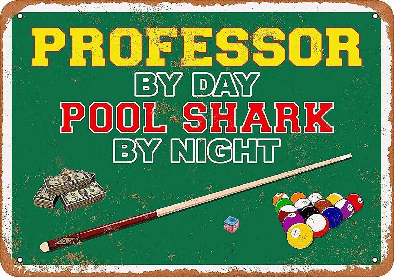 Professor Pool Shark Póster de Pared Metal Creativo Placa Decorativa Cartel de Chapa Placas Vintage Decoración Pared Arte Muestra para Bar Club Café: Amazon.es: Hogar
