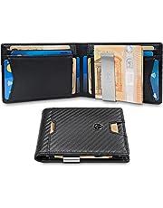 d412e6bae7 TRAVANDO ® Portafoglio Uomo con Clip per Contanti ZURICH - 11 Tasche per la  Carte -