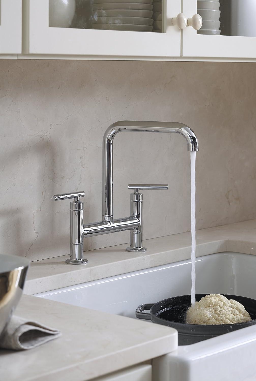 Kohler whitehaven apron sink - Kohler K 6488 0 Whitehaven Self Trimming Apron Front Single Basin Sink With Short Apron White Single Bowl Sinks Amazon Com