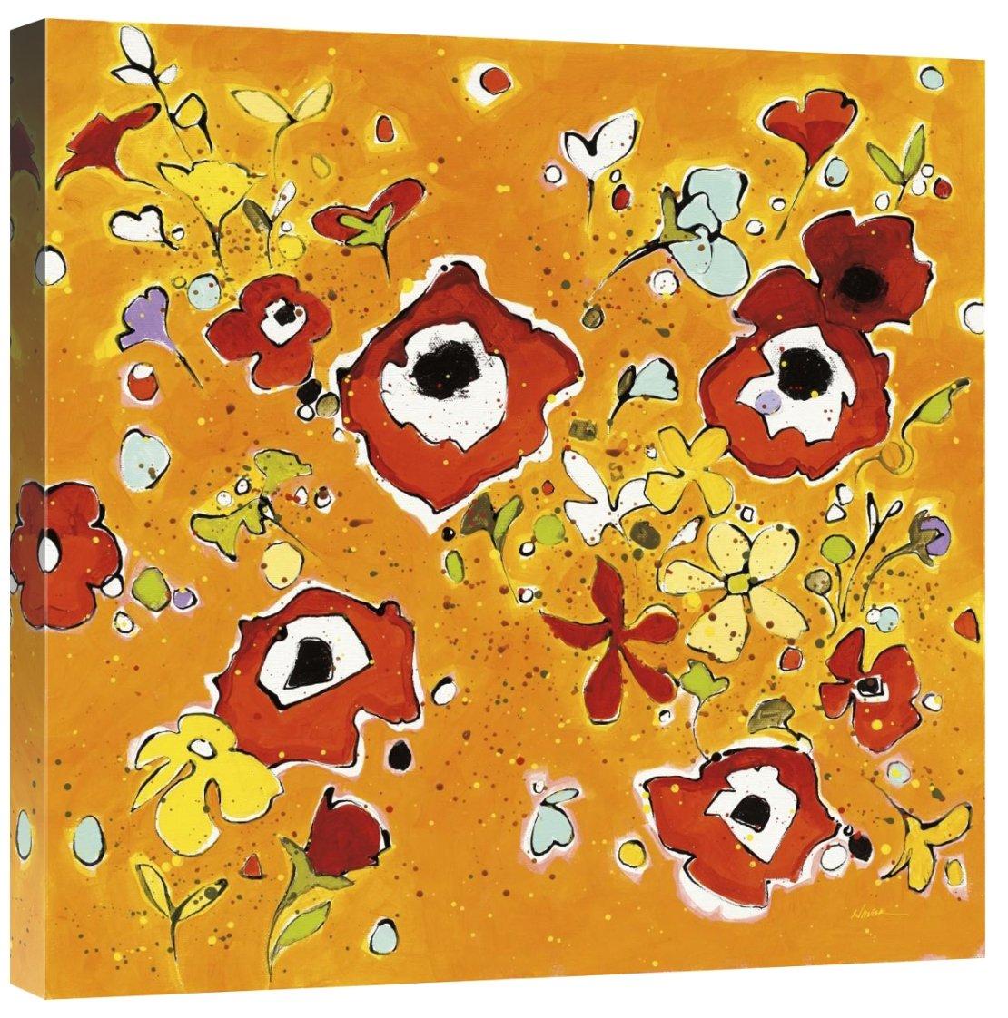 Global Gallery Shirley Novak Fleur Amusement Giclee Stretched Canvas Artwork 24 x 24