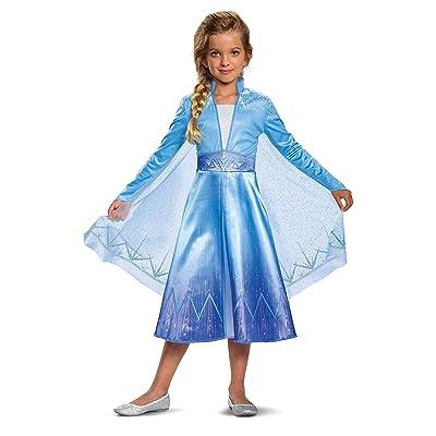 Disguise Disney Elsa Frozen 2 Deluxe Girls' Halloween Costume (Medium, 8-10): Toys & Games