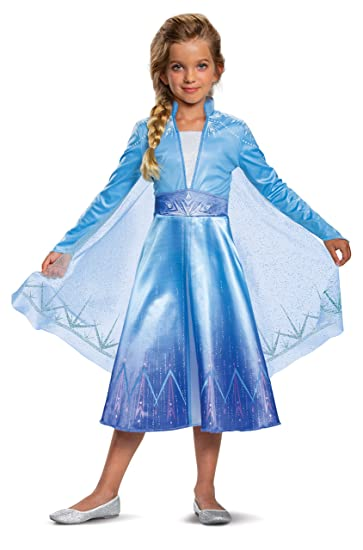 Disguise Disney Elsa Frozen 2 Deluxe Girls Halloween Costume