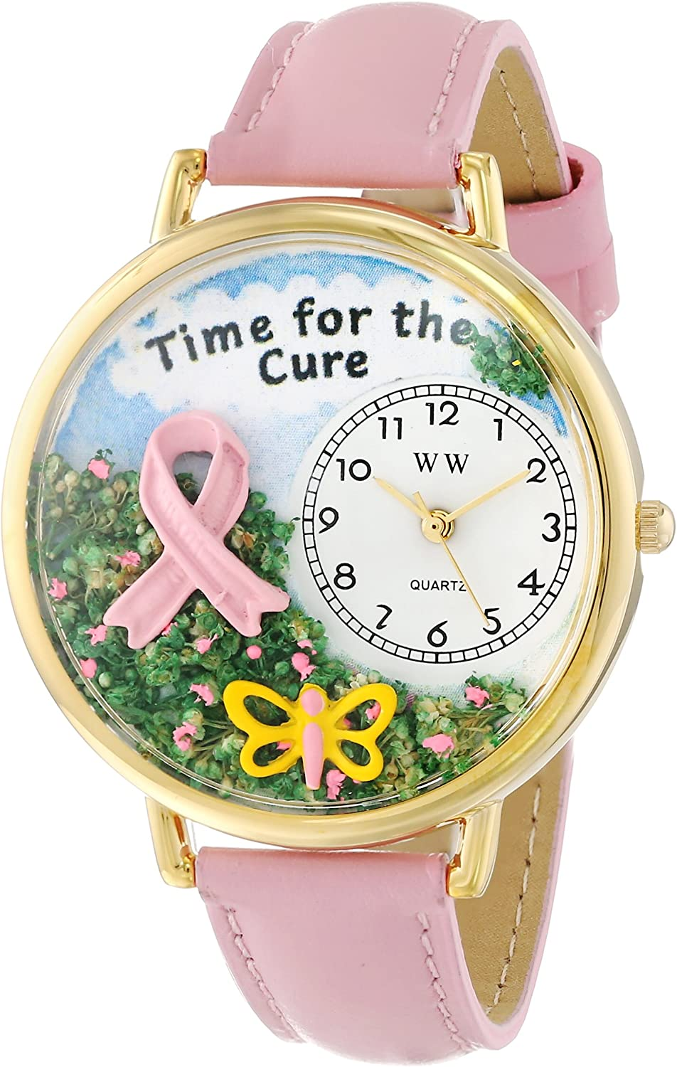Whimsical Watches Women s G1110001 Time for the Cure Pink Leather Watch