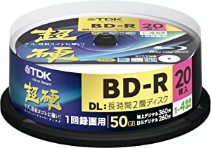 TDK Blu-ray Disc 20 Spindle - 50GB 4X BD-R DL - 2010 Printable Version