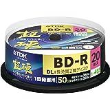 TDK Blu-ray Disc 20 Spindle - 50GB 4X BD-R DL - 2010 Printable Version (japan import)